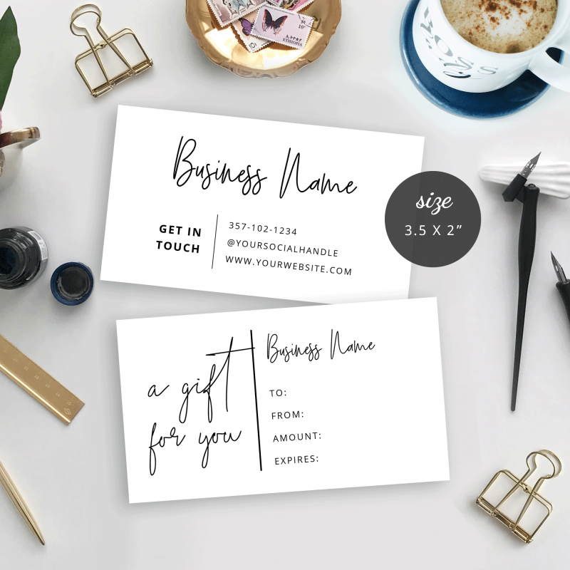 small gift card template