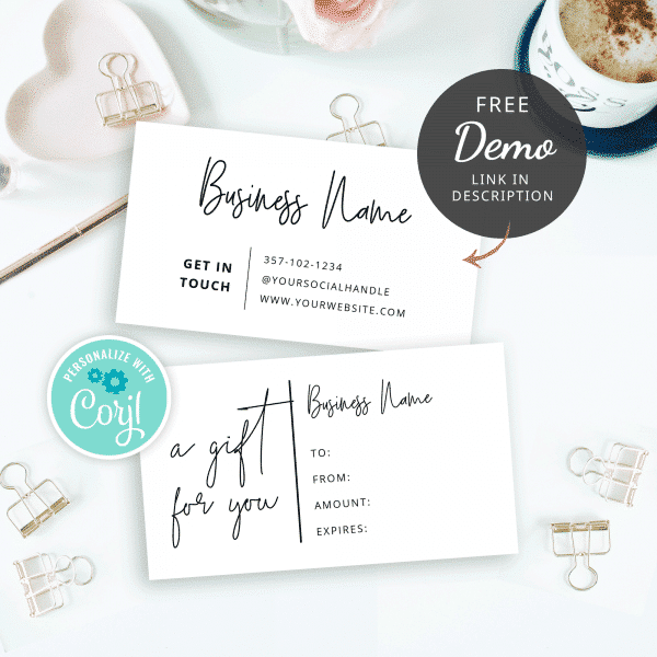 try gift certificate template
