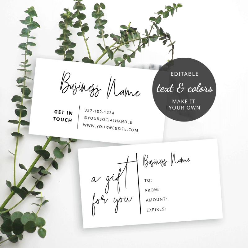 fully editable mini gift voucher design