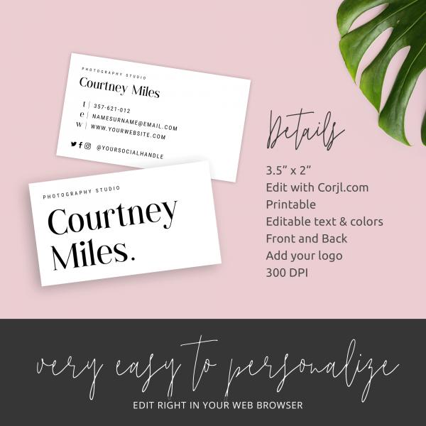 customizable business card design
