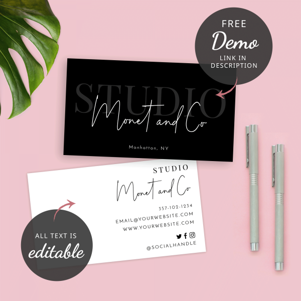 hairdresser salon business card template