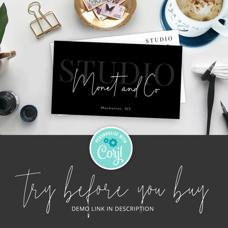 minimalist company cards