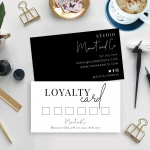 minimalist loyalty cards