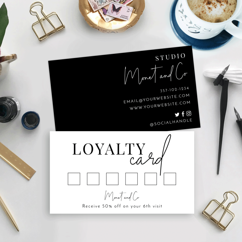 Fully Editable Loyalty Card