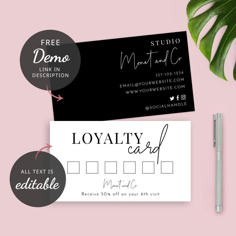 hairdresser loyalty card templates