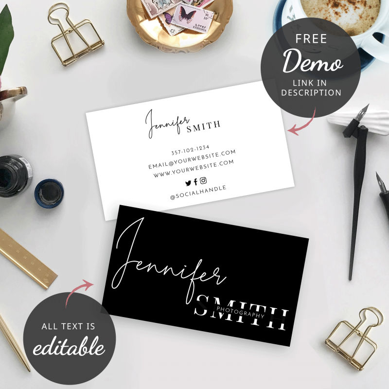 minimal business cards design