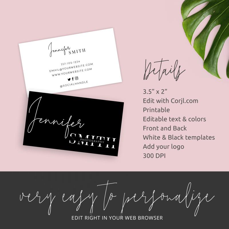 editable business cards