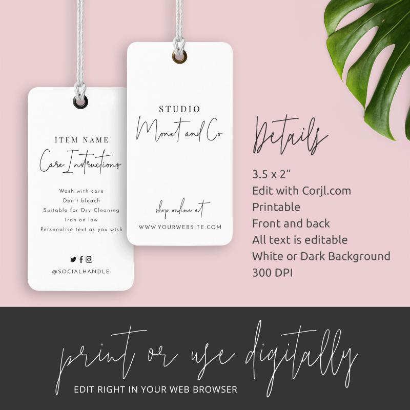 white swing tag