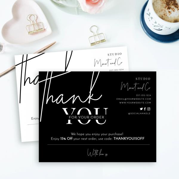 minimalist thank you card