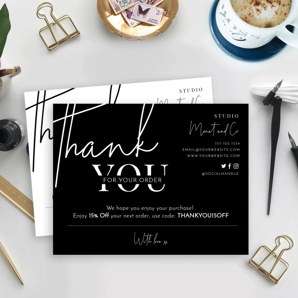 minimalist thank you for purchase template