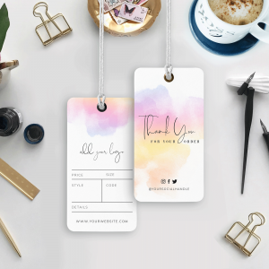 colourful watercolor hang tags