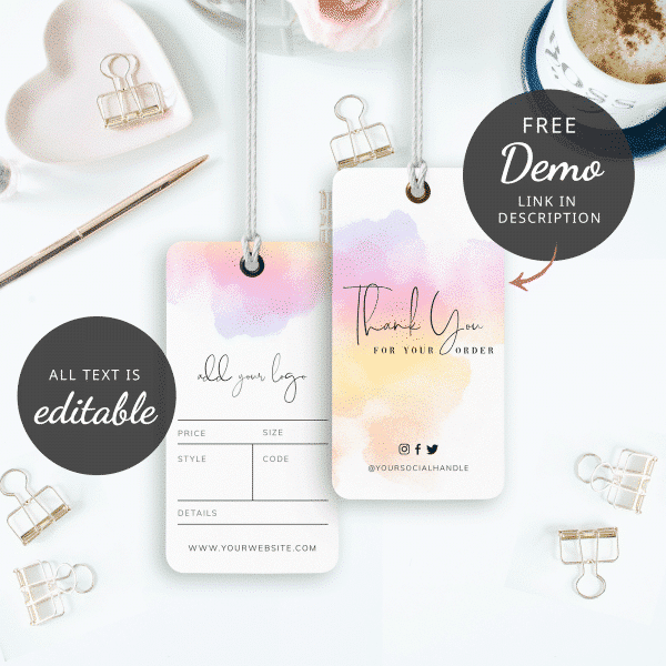 gradient background hang tags