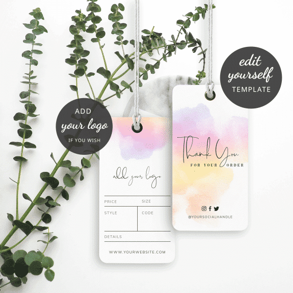 watercolor hang tag template