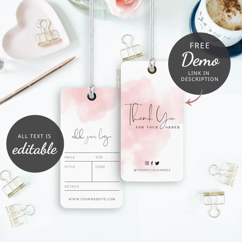 pink ink splash swing tags