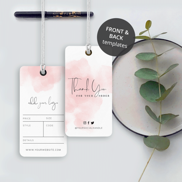 brush paint hang tag design