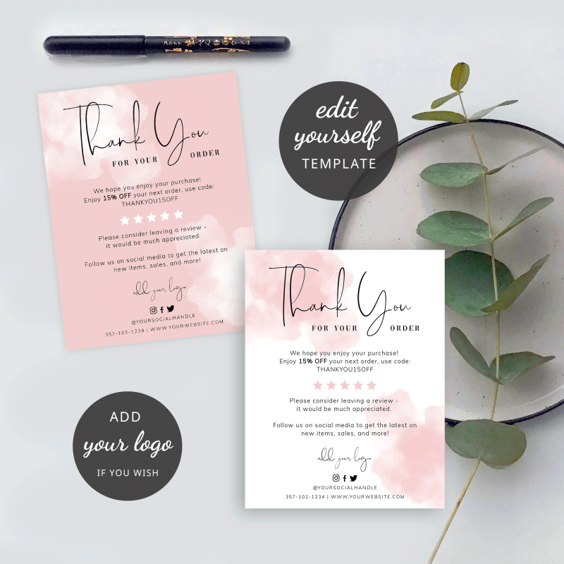 paint background thank you cards
