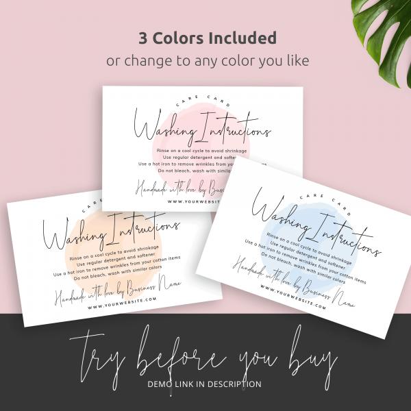 pink cream blue care card design