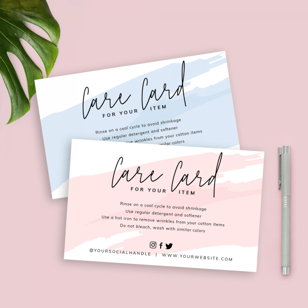 feminine care card watercolor template