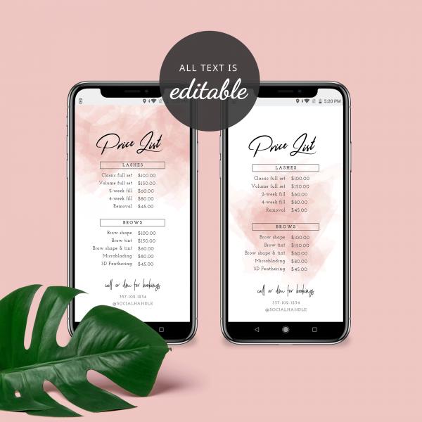 pink brush social media price guide