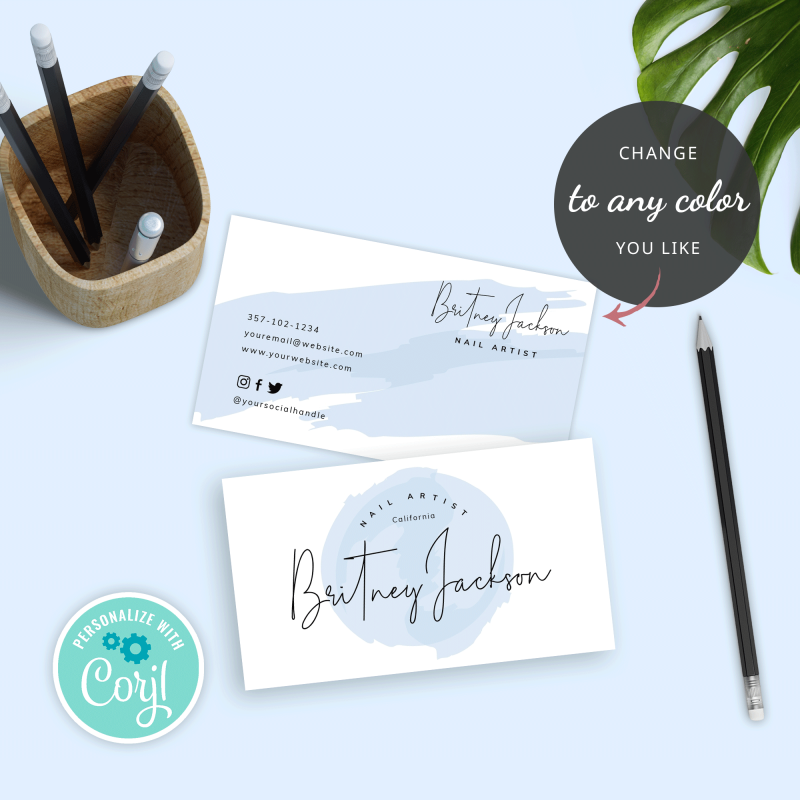 baby blue business card design