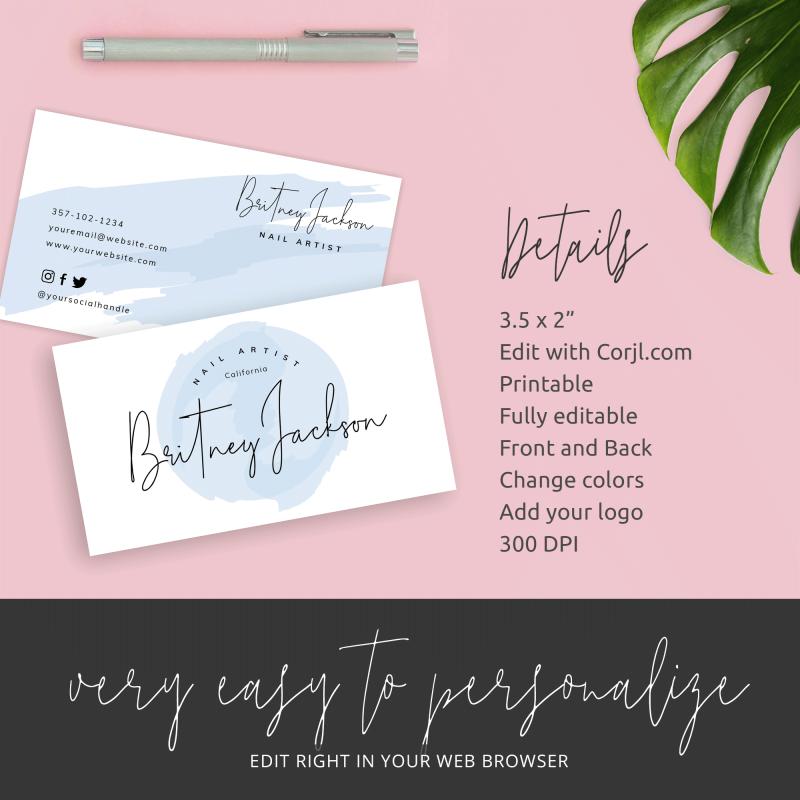 diy business card template