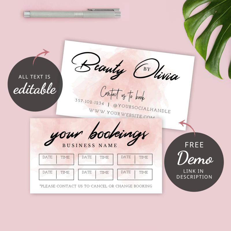 customer booking reminder template
