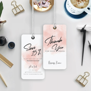 pink watercolour hang tags