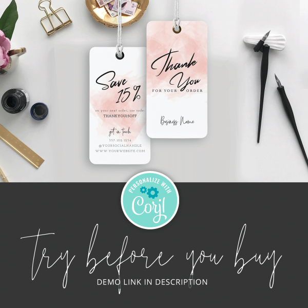 feminine swing tag template