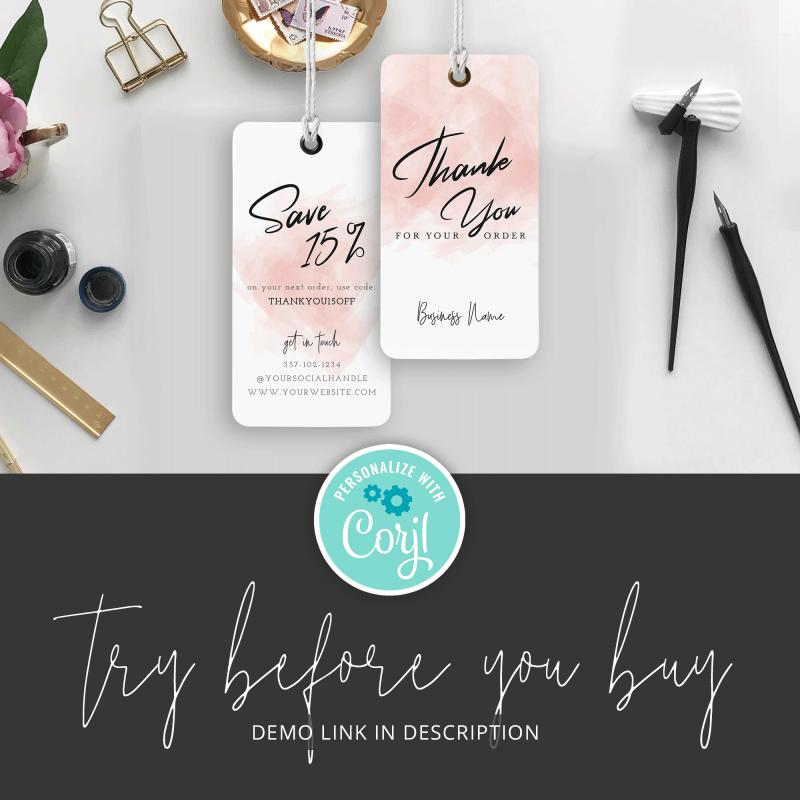 feminine swing tag template
