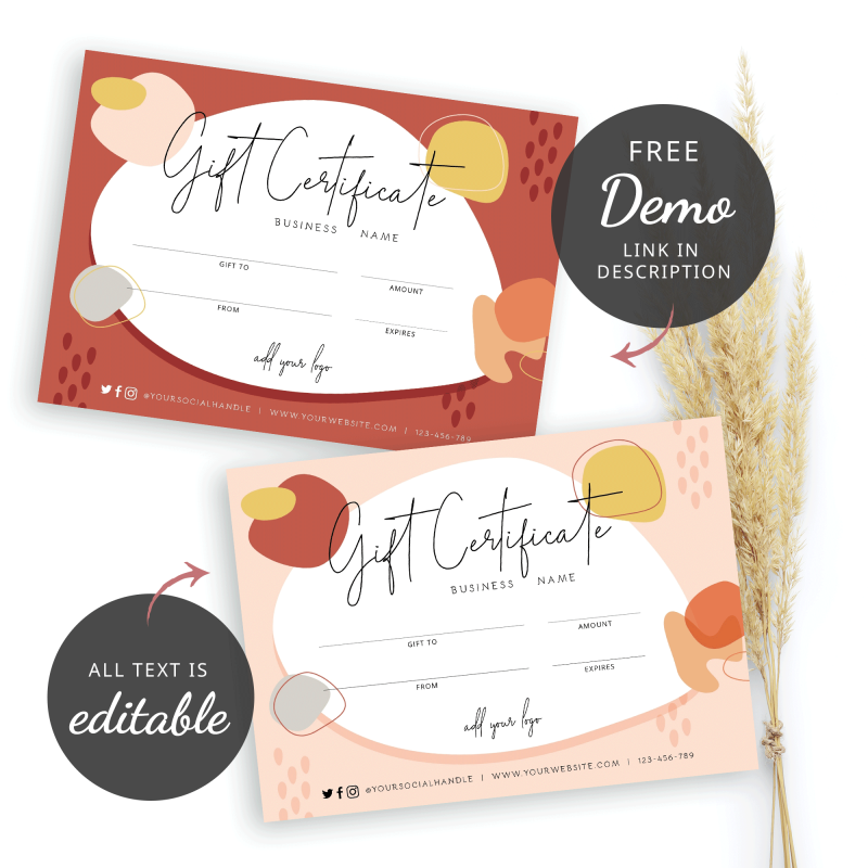 fall inspired gift card
