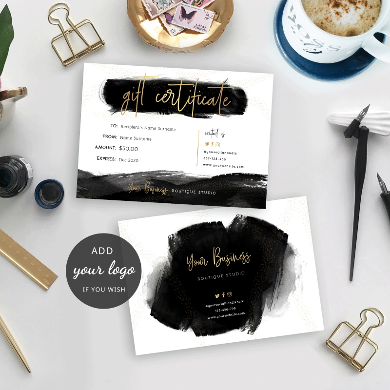 brush effect gift certificate