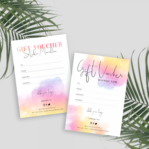 colourful gift voucher template