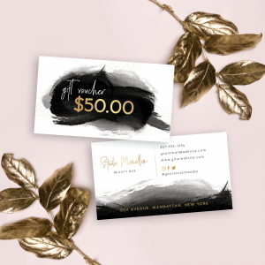Mini faux gold gift card