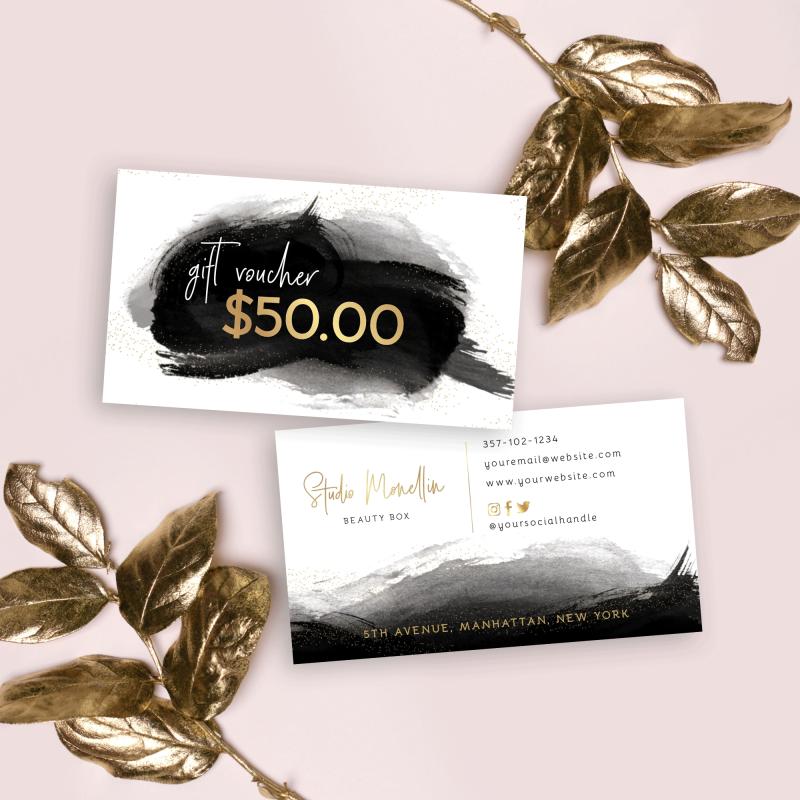 Mini faux gold gift card