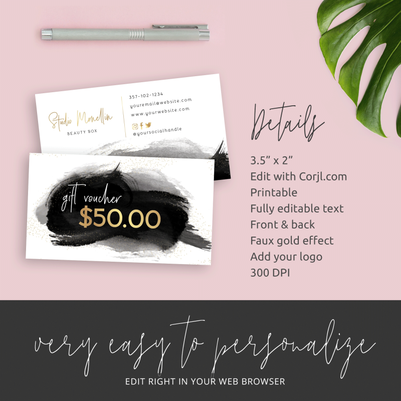 paint brush effect gift cards