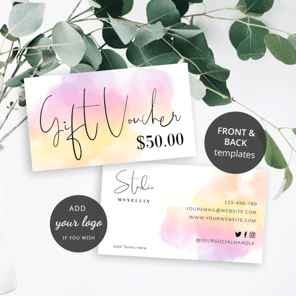 paint brush effect gift voucher