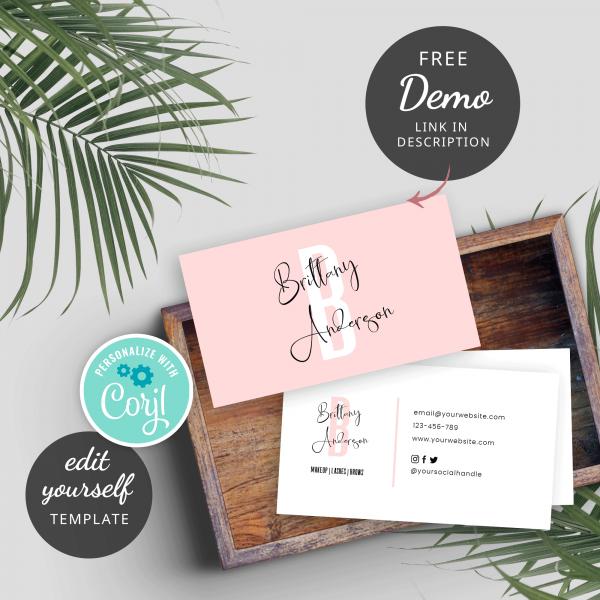pink comapny cards design
