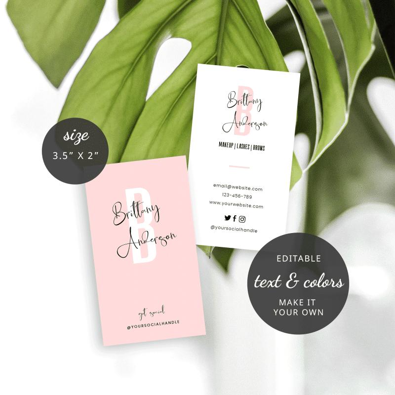 minimalist business cards template