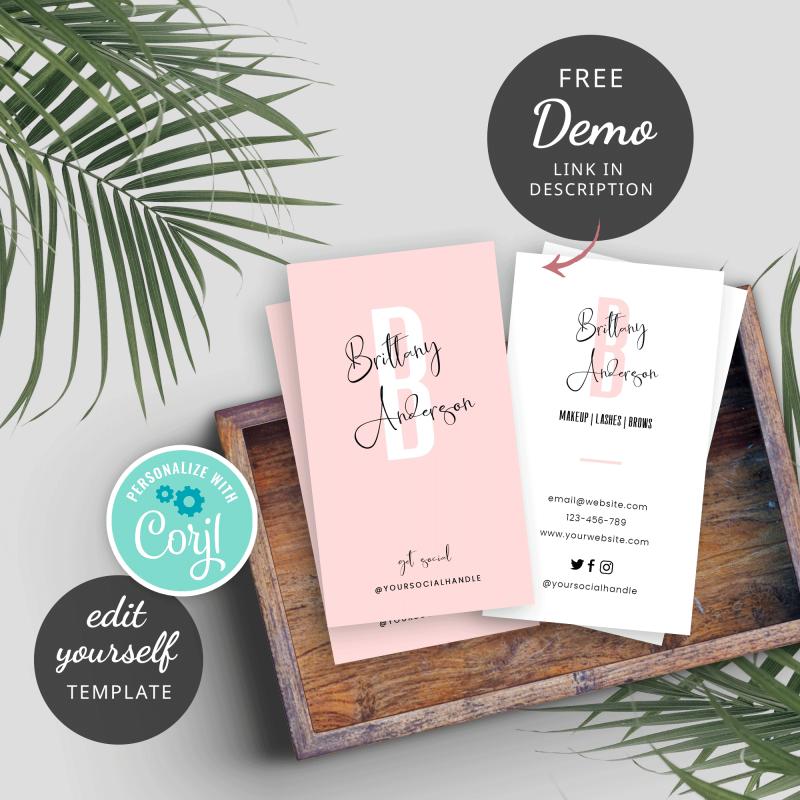 feminine business cards design
