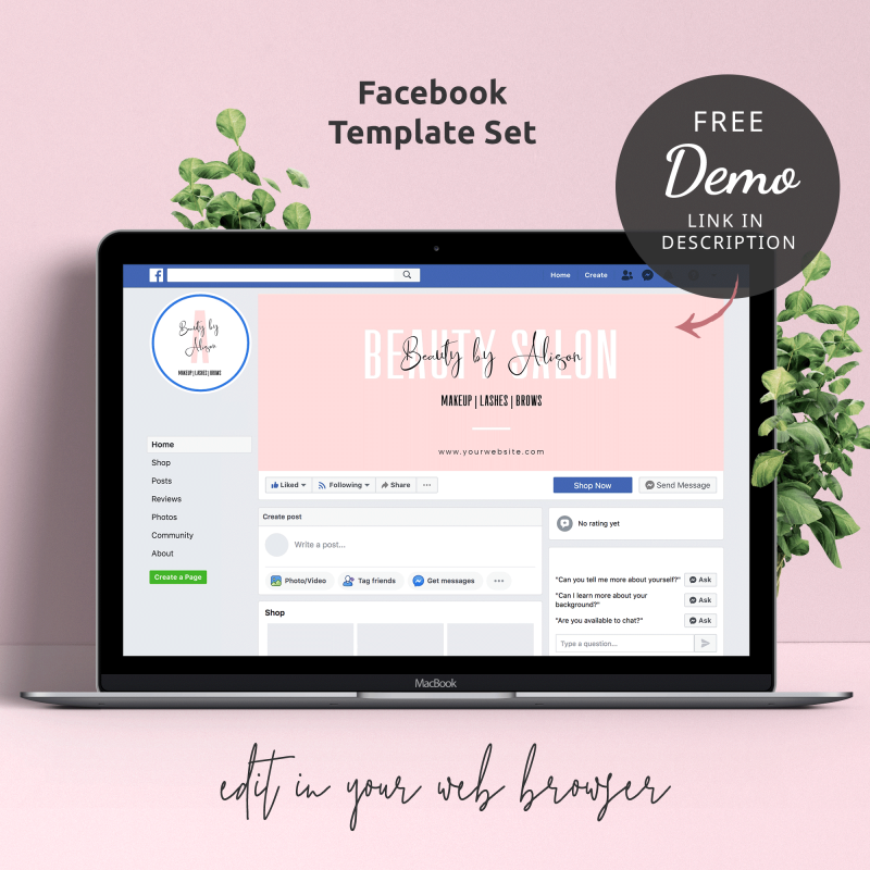 small business facebook page templates