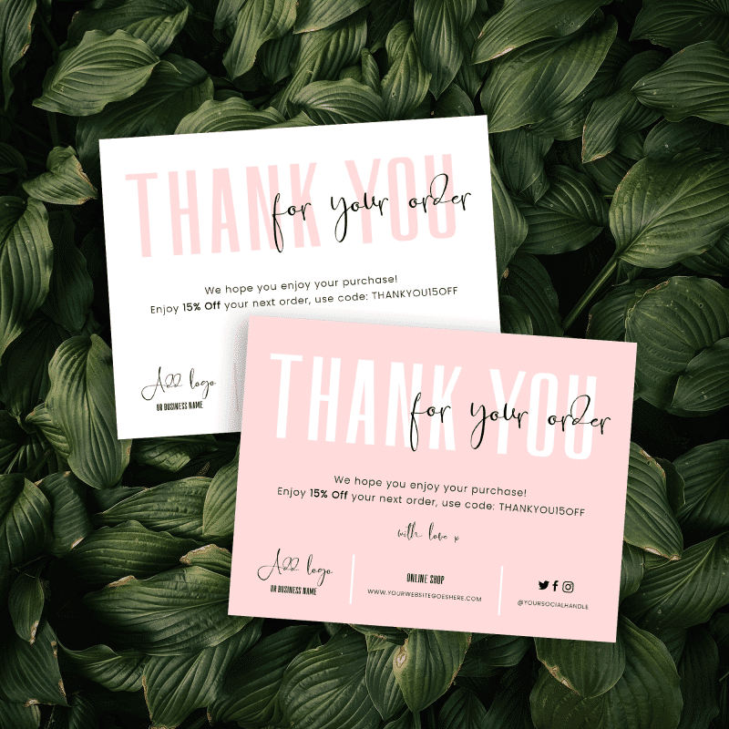 Thank You for Order Template