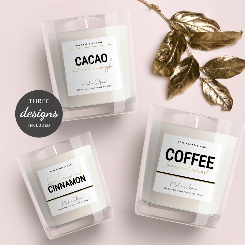 DIY Label Template Black and Gold