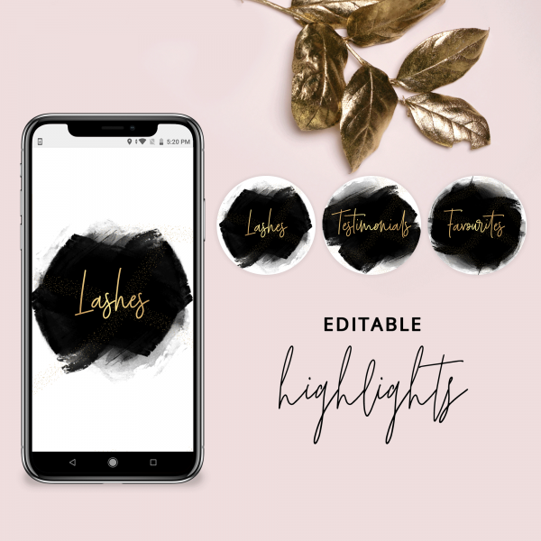 Editable Instagram Highlights Template