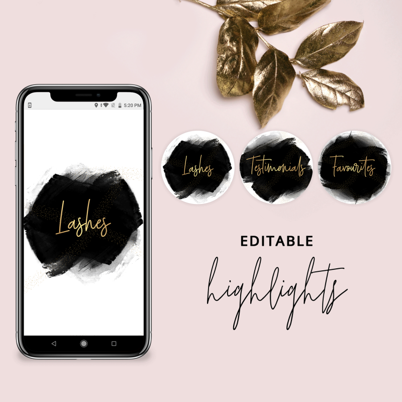 Editable Instagram Highlights Template
