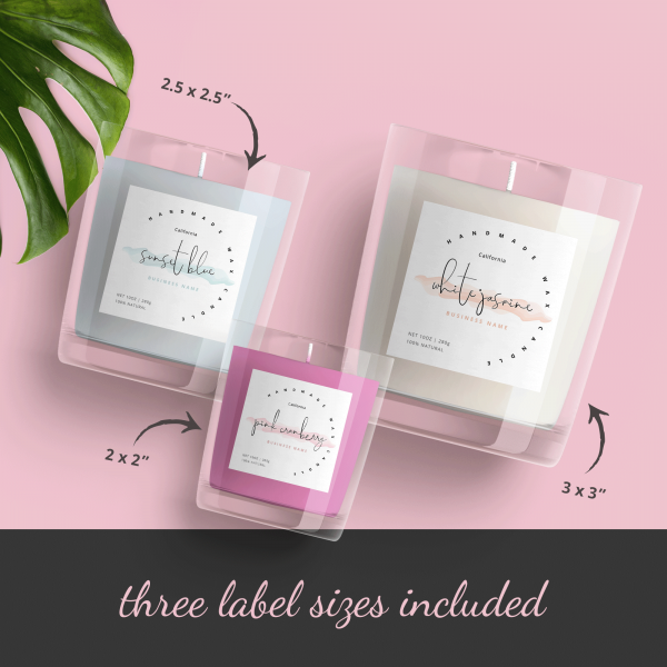 watercolour product label template