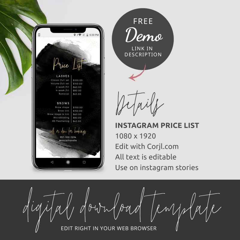Editable Instagram Template
