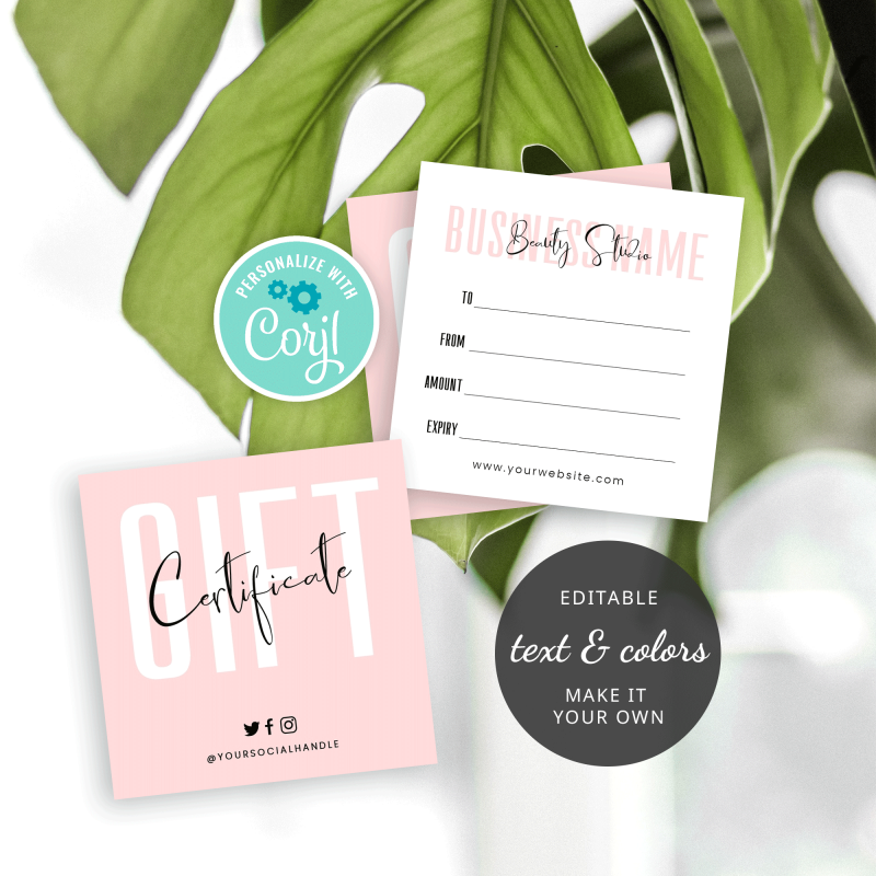 small gift voucher template
