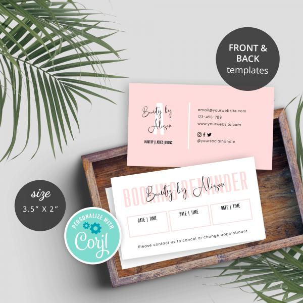 feminine booking cards