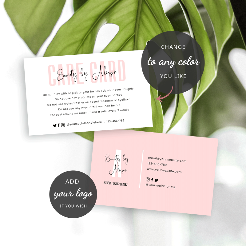 DIY Product Care Card