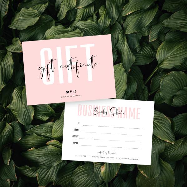 DIY Gift Certificate Design